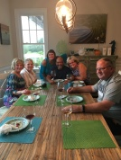 Dinner at my house with Admin Assistants and the Monetta's