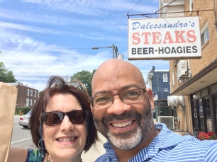Janis and I ... cheesesteak fix