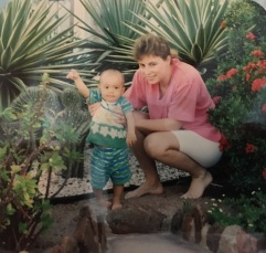 Brendon in Aruba with Mom