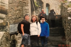 Lynn and the boys ... Le Mont Saint-Michel, France - June '12